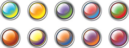 Different Colour Buttons 1 Royalty Free Stock Photography