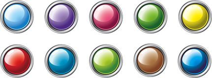 Different Colour Buttons 2 Royalty Free Stock Photos