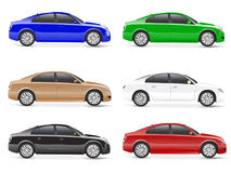 Different Colour Cars for Family Concept Royalty Free Stock Photo