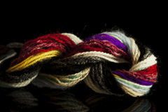 Different colour yarns twisted together and braided Royalty Free Stock Image