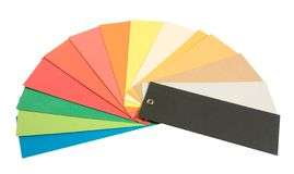 Different coloured paper Royalty Free Stock Photos