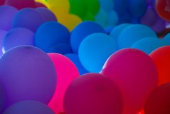 Different colours air balloons background Stock Images