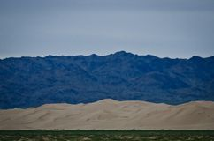 The different colours of the Gobi desert royalty free stock images