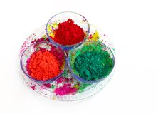 Different colours for Holi festival Stock Photography