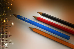 Different colours pencil Royalty Free Stock Photo