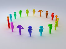 Different colours of people. Render different colours of people Stock Image