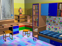 Different colours room for children Royalty Free Stock Images