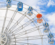 Different concept in color of ferris wheel Stock Image