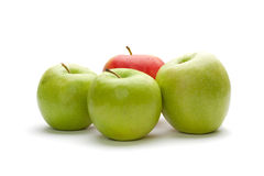 Different concepts with apples Royalty Free Stock Images