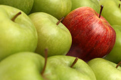 Different concepts with apples stock photography
