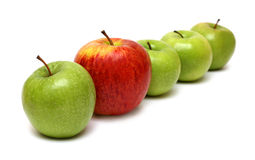 Different concepts with apples royalty free stock photos