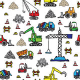 Construction items seamless pattern. Different construction items seamless pattern Stock Images