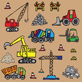 Construction items seamless pattern. Different construction items seamless pattern Royalty Free Stock Photos