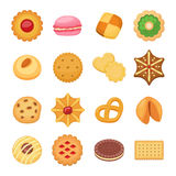Different cookie cakes  vector set Royalty Free Stock Photo