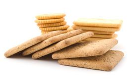 Different cookies and crackers Stock Photography