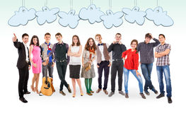 We are so different! We are so cool! with Speech balloones Stock Photography