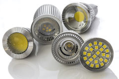 Different cooling used for various light-emitting chips on some Royalty Free Stock Photography