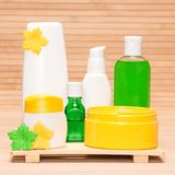 Different cosmetic products for body care Royalty Free Stock Image