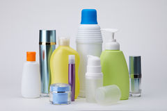 Different cosmetic products for personal care Royalty Free Stock Image