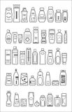 Different cosmetic products. For personal care, vector illustration Stock Image