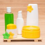 Different cosmetic and spa products Stock Photos