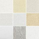 Different cotton,linen,woven texture Stock Photos