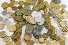 Different countries coins background. Different countries coins on background Royalty Free Stock Photography