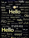 Different countries languages for hello stock photos