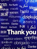 Different countries languages for thank you stock photos