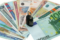 Different countries money Stock Photo