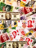 Different countries paper money picture Royalty Free Stock Image