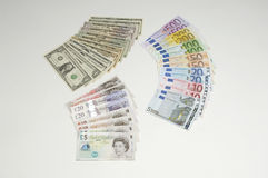 Different Country Currency Stock Photography