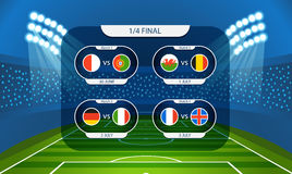 Different country flags collection. Football infographic Royalty Free Stock Photo