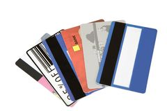 Different credit cards Royalty Free Stock Image
