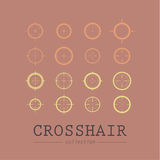 Different crosshair icons. Royalty Free Stock Photo