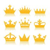 Different crowns Royalty Free Stock Image