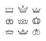 Different crowns collection Royalty Free Stock Photography