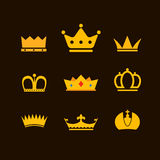 Different crowns collection Stock Images