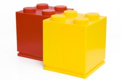 Different cube. Colorful cubes on white background Stock Photography
