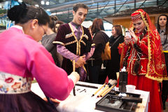 Different cultures at BIT 2012  Stock Image