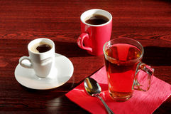 Different cup tea and coffee Stock Photography