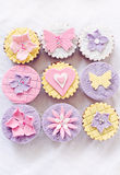 Different cupcakes stock images