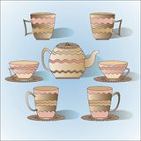 Different cups Stock Image