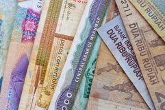 Different currencies Royalty Free Stock Photos