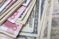 Different currencies Stock Photography