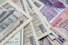 Different currencies Royalty Free Stock Photography