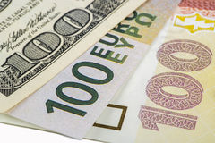 Different currencies Stock Photo