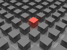 Different. 3D image of allegory, representing standing out of the crowd Royalty Free Stock Image