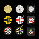 Different darts collection Royalty Free Stock Photos