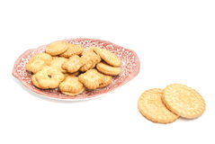 Different delicious cookies on a plate Stock Images